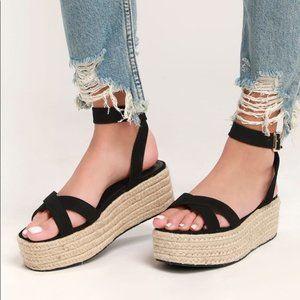 Lulu's Cobi Espadrille Platform Sandals